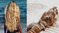 plava kosa ljeti